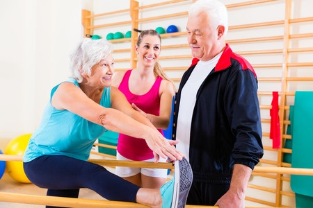 37922951 - senior at rehab in physical therapy having rehabilitation session